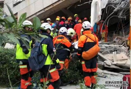 再发现2具遗体 台湾花莲地震死亡人数上升至4人