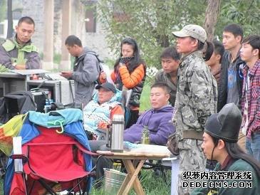 《隋唐英雄》拍摄现场。