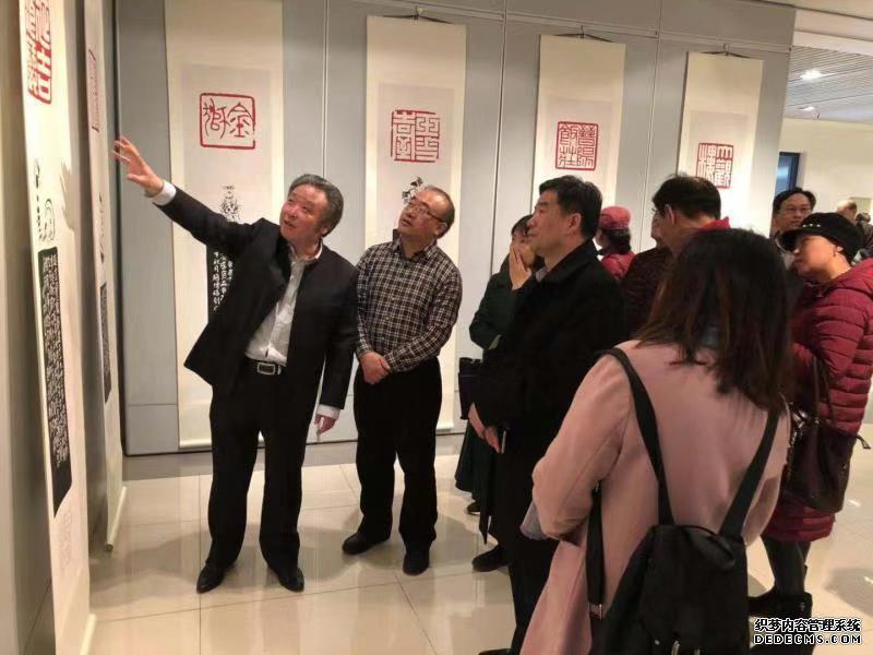 """98幅赵增福篆刻作品展出 讲述""""北京老字号""""传奇故事"""