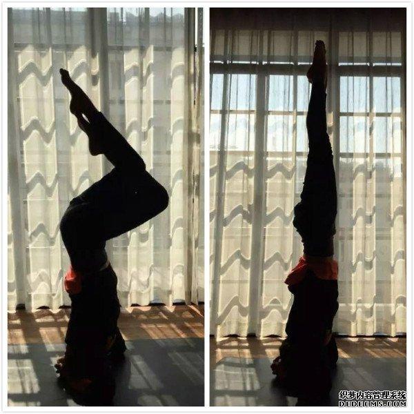 孙俪上传一些自己练瑜伽的图片